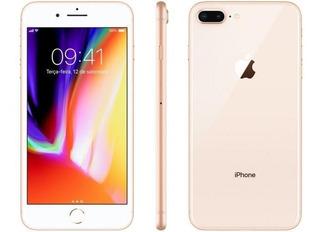 iPhone 8 Plus Dourado Gold 256gb Anatel Lacrado Nota Fiscal