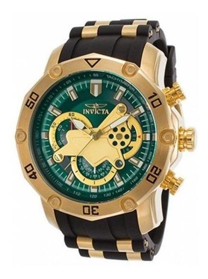 Relógio Lm01 Invicta 23425 Masculino Banhado Ouro 18k Promo