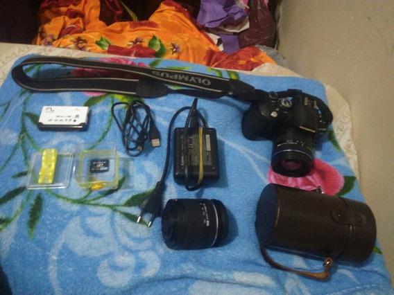 Câmera Olympus E-510 Com As Duas Lentes