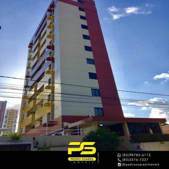 Apartamento Com 2 Dormitórios Para Alugar, 60 M² Por R$ 1.000/mês - Manaíra - João Pessoa/pb - Ap3271