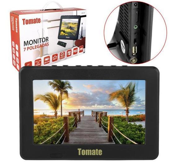Tv Portatil Led Monitor Tv Digital 7 Pol Micro Sd C/ Antena