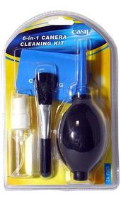Kit Limpeza Lentes Easy Ec-7105 6 Em 1 Novo