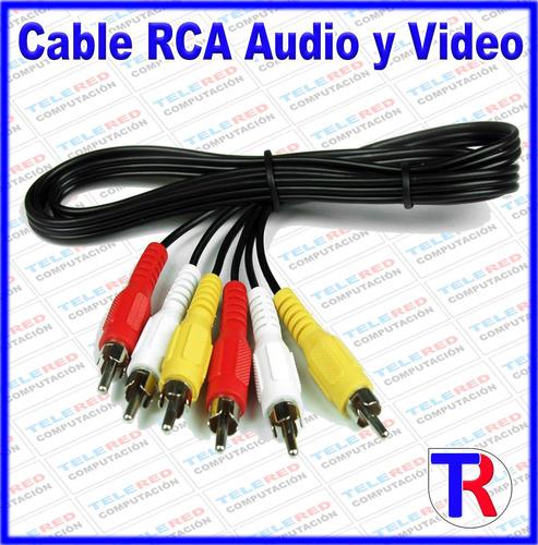 Imagen 1 de 9 de Cable Rca Audio Y Video 1.5 Mts Para Dvd Tv Decodificador