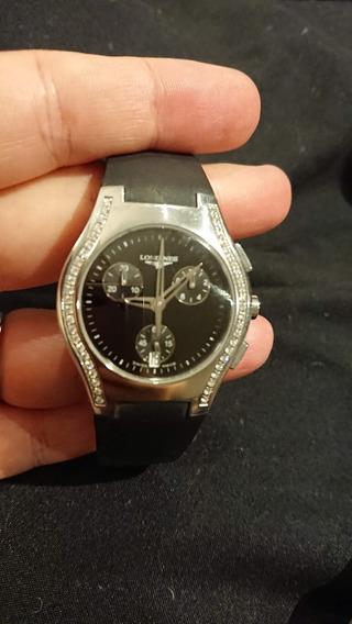 Reloj Longines Oposition Chrono Date Diamantes Dama / Mujer