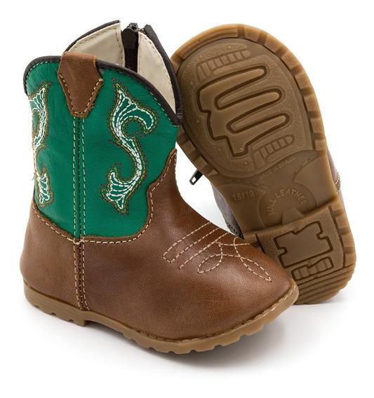 Bota Country Bebê Texana Infantil Sapato Bebê 100% Couro