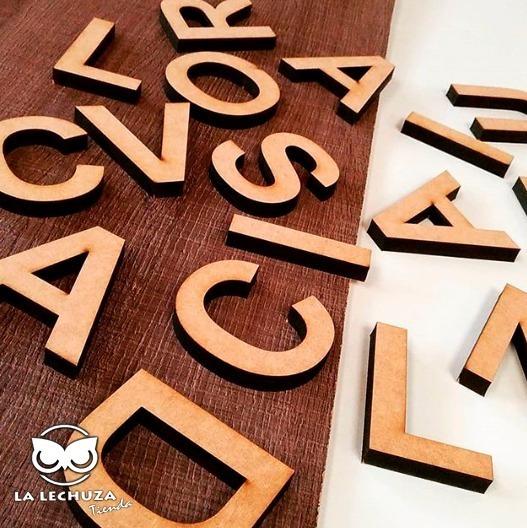 Letras Fibrofacil Mdf 5cm X 10 Unidades