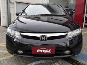 Honda Civic 1.8 Lxs 2008 Bancos De Couro Impecável