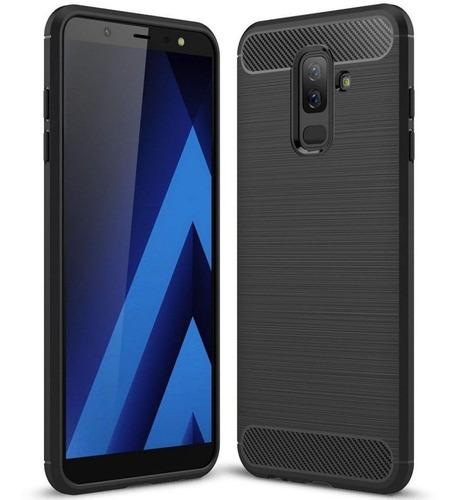 Protector Funda Tpu Tipo Carbono Samsung A6 Plus + 2018 ®