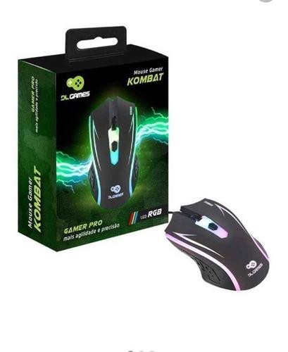Mouse Gamer Dl Games Kombat Led Rgb 4 Botões - Mx250pre