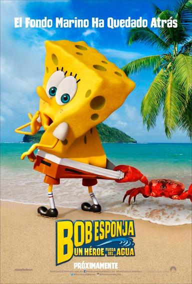 Poster Original Cine Bob Esponja - Un Héroe... (motivo 1)