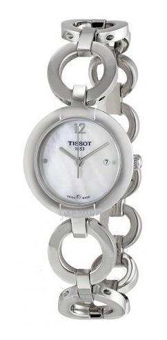 Relógio Tissot Feminino T-trend Madre Pérola Bracelete Prata