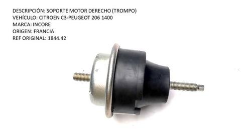 Soporte Motor Derecho (trompo) Citroen  C3-peugeot 206 1400