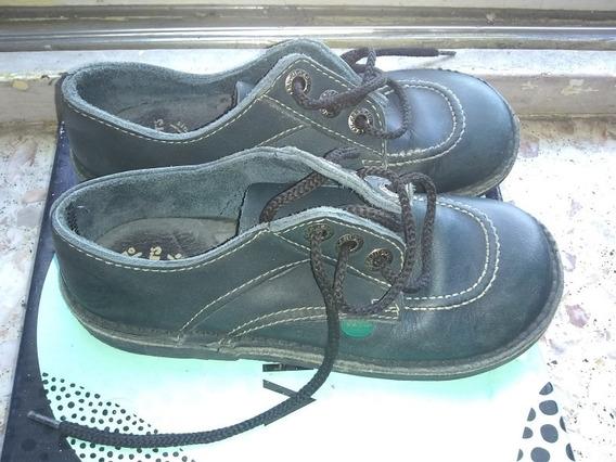 Zapato Kickers Azules Colegiales