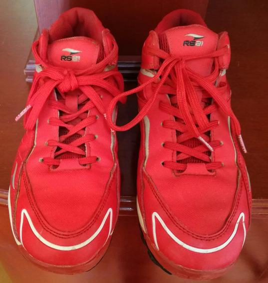 Zapatos De Beisbol Hombre Rs21 Talla 38 Color Rojo