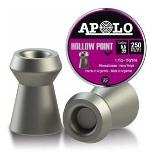 Balines Apolo Hollow Point X250 5.5mm - Hay Gamo Crosman H&n