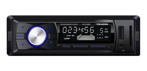 Som automotivo Roadstar RS-2709 com USB, bluetooth e leitor de cartão SD