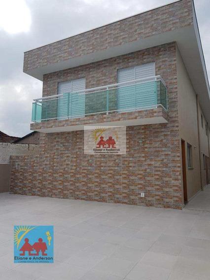 Sobrado De Condomínio Com 2 Dorms, Vila Atlântica, Mongaguá - R$ 185 Mil, Cod: 844 - V844