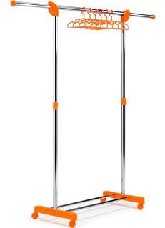 Perchero Pie Extensible Celeste O Naranja Ruedas Gimi Italia - Excelente Diseño Regulable En Altura