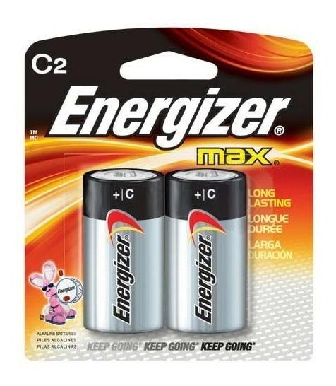 Pilha Alcalina C 1,5v Energizer Max - Cartela Com 2 Pilhas