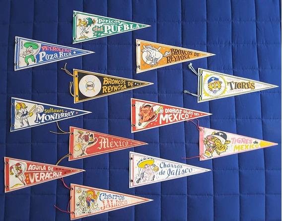 Coleccion Banderines Liga Mexicana De Beisbol 60´s