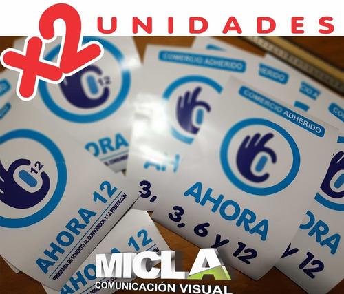 Vinilo Vidrieras Ahora 3, 6, 12 Y 18 Calcos Ploteos Cartel