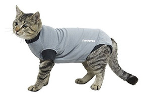 Kruuse Buster Body Suit For Cats, Black/grey, Gris/negro, Sm