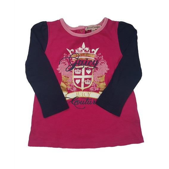 Remera M/l Juicy Couture 12-18 Meses Niña - Smartmom