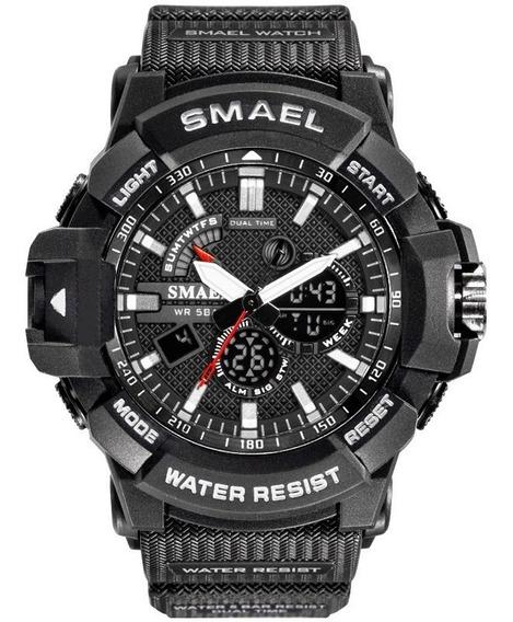 Relógio De Pulso Digital Smael 1809 Masculino - Caqui