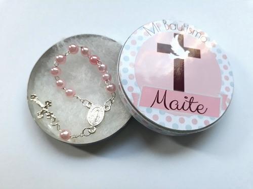 70 Latitas Personalizadas Con Mini Rosario Souvenirs