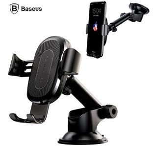 Carregador Veicular Sem Fio Ventosa Baseus - Original!!! Apple - Samsung - Nokia - Lg - Google - Sony