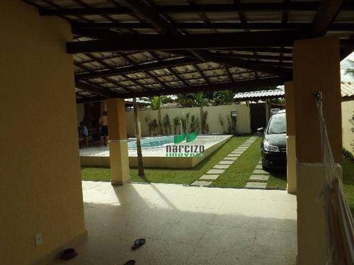 Casa Com 5 Dormitórios À Venda, 350 M² Por R$ 990.000,00 - Barra Do Jacuípe - Camaçari/ba - Ca2555