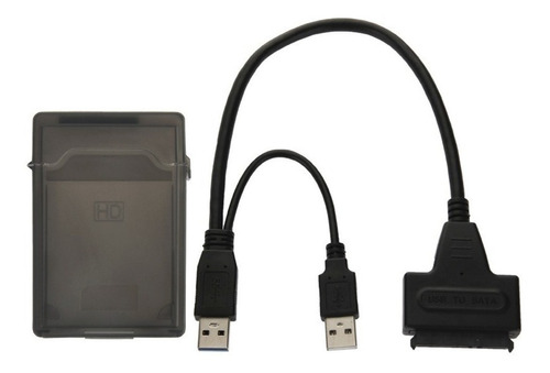 Imagen 1 de 2 de Cable Adaptador Usb 2.0 A Sata Disco Duro 2tb + Caja