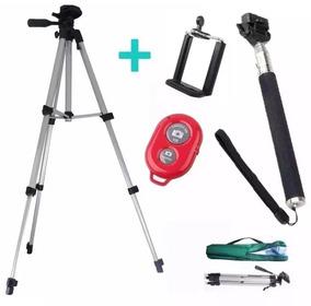 Tripé Celular Camera 1,10+kit Self Com Controle Remoto