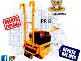 Rodillo Sencillo 500kg, Mod. Pr8 Motor M-power 9hp