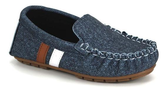 Promoção Sapato Mocassim Infantil Molekinho 2142.101 Jeans
