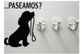 Cuadro 3 Ganchos Portacorrea Perro Mascota Correa Collar