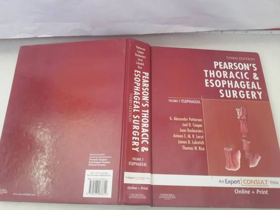 Livro Peason^s Thoracic & Esophageal Surgery Vol 2