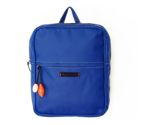 Bolsos Morrales Dama Flor De Chocolate Backpack Azul Marino