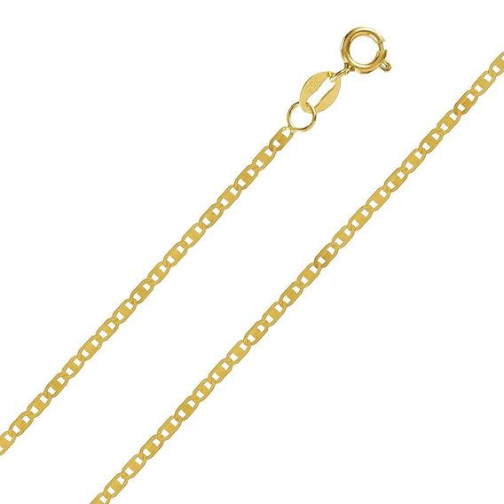 Corrente De Ouro 18k Piastrine 2mm 2,4gr Masculino Feminino