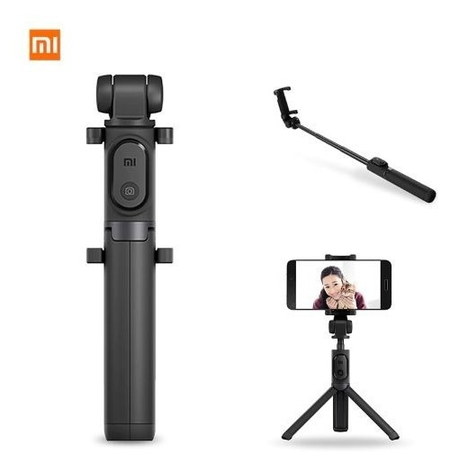 Bastão Tripe Selfie Retrátil Xiaomi + Brinde Surpresa!