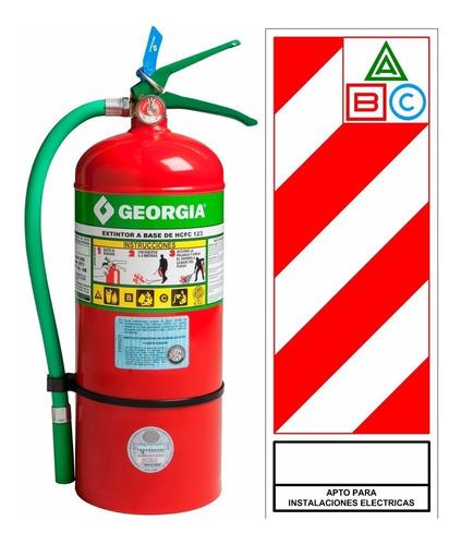Matafuegos Georgia Hcfc236 De 5 Kg Halogenado 100% Ecológico