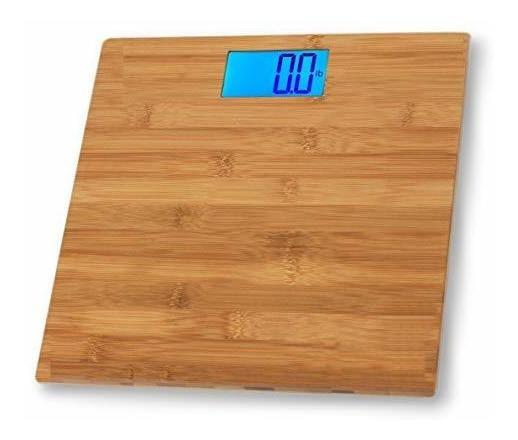 Eco4usbáscula De Baño De Bambú, Cuerpo, Peso Escala, Eco