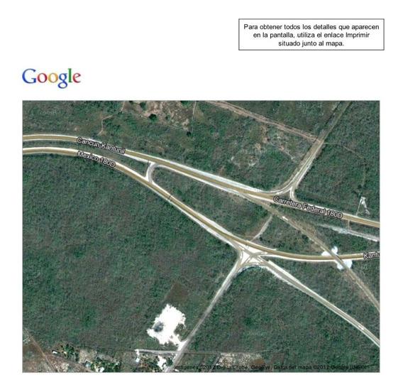 Terreno Kantunil Mérida Sobre La Carretera