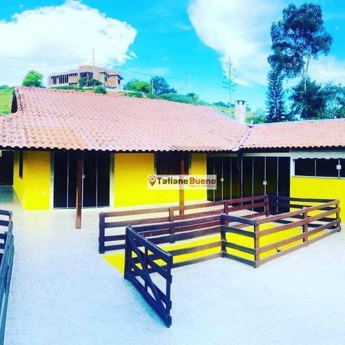 Chácara Com 3 Dormitórios À Venda, 1000 M² Por R$ 575.000 - Lage - Piranguinho/mg - Ch0071
