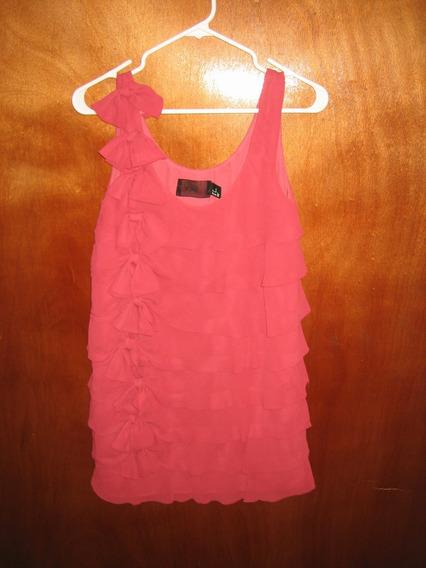 Vestido Fiesta Corto H&m Coral Original Importado Talla 32