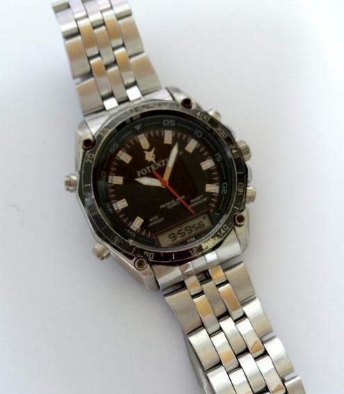Relógio Italiano - Chronograph - Alarme - Day Date