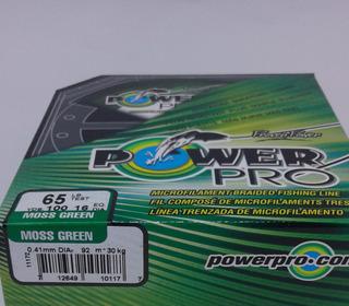 Linha De Multifilamento Power Pro Moss Green 65lbs 100y