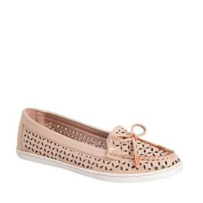 Zapato Dama De Piso Confortable Grecas Durazno