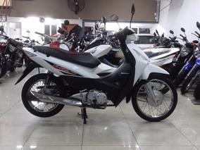 Honda Biz 125 Base Blanca Muy Buena Financio Dni Qr Motors