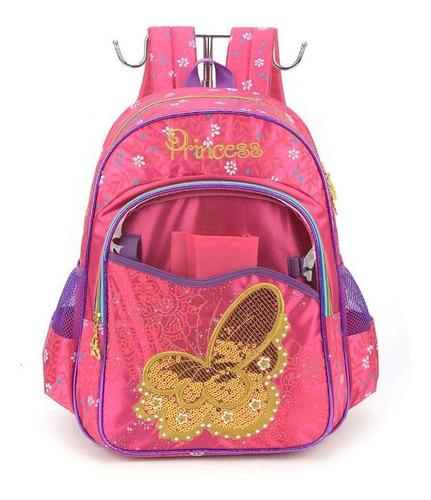 Imagem 1 de 4 de Mochila Infantil Princess Borboleta Pink